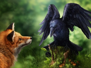 Paintography, Fox, Crow